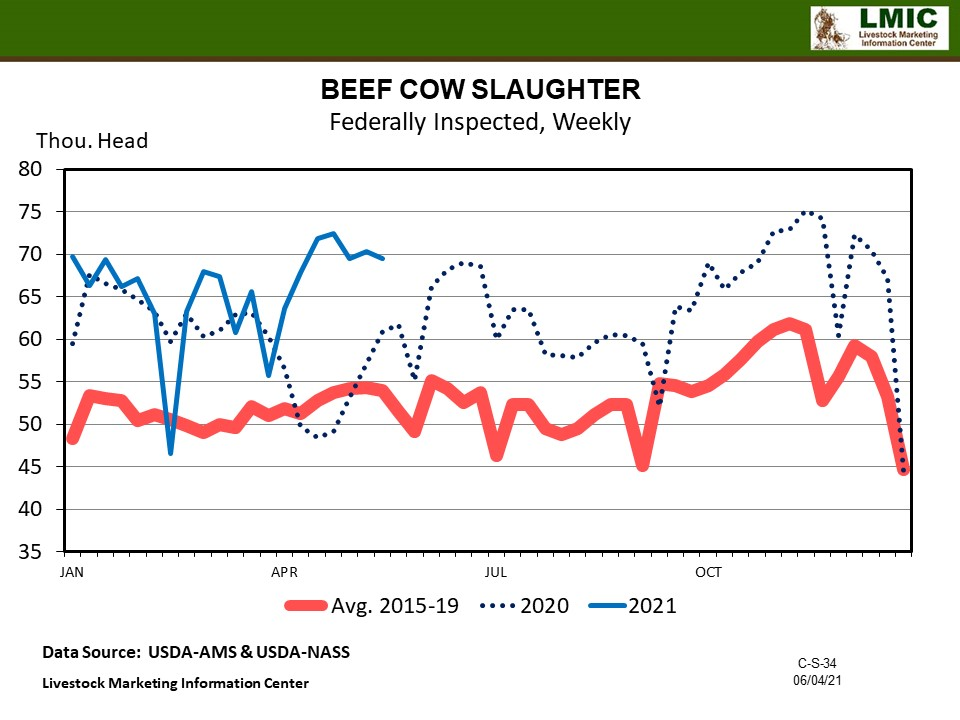 Graphic -- BEEF COW SLAUGHTER Federally Inspected, Weekly