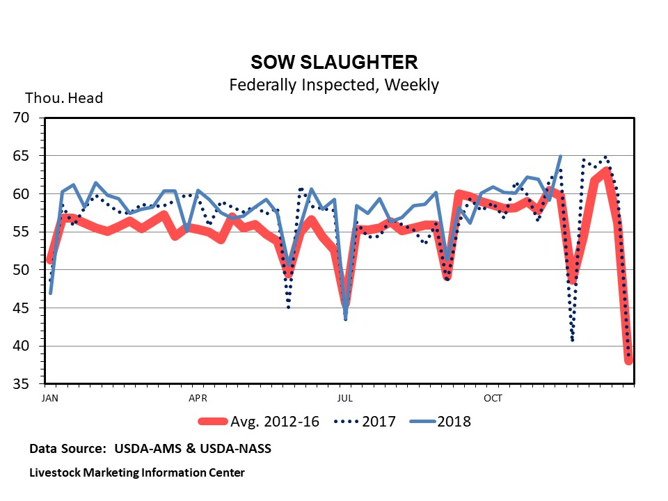 Graphic -- Weekly US Federally Inspected Sow Slaughter