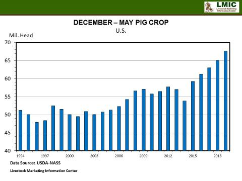 Graphic-- December to May Pig Crop